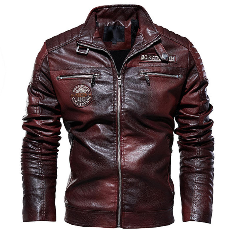 2019 New Autumn And Winter High Quality Fashion Coat Leather Jacket for Cool Guys
