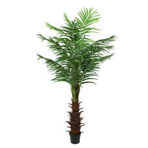 Large bonsai greenery leaves artificial palm trees plant for outdoor decoration