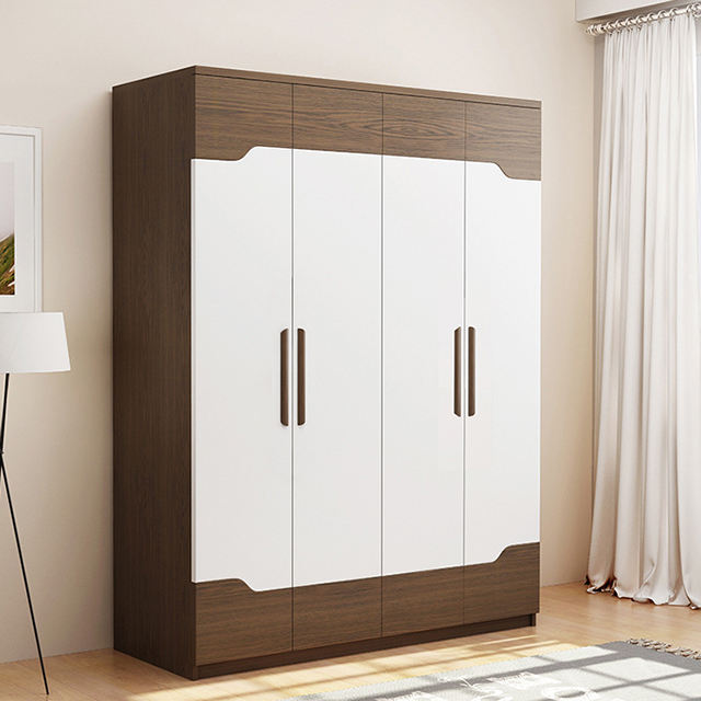 Factory direct sale wooden relief technology bedroom storage cabinet wardrobe can be customized