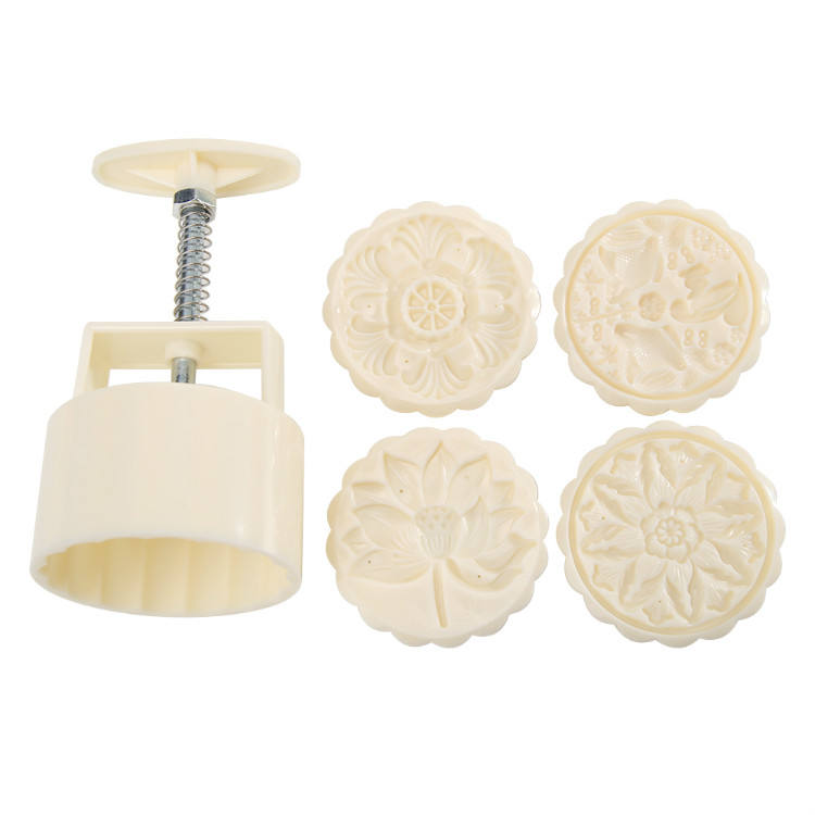 Wholesale Amazon Kitchen Bake Tool Print Mooncake Mold Hand Press Cake Pastry Decor