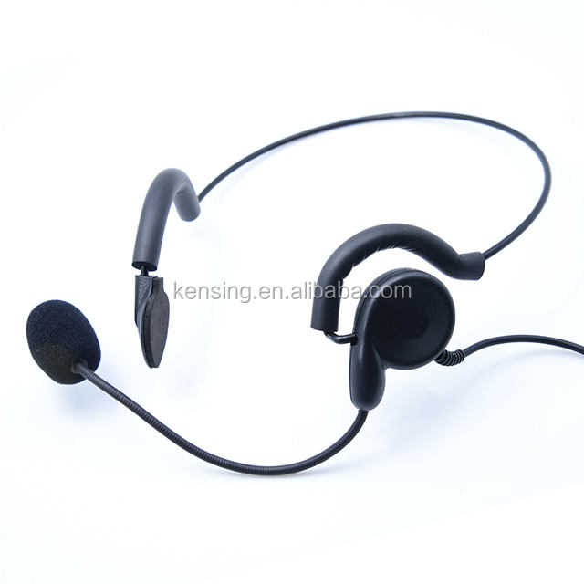 Monaural ear hook Call Center Headset call center headphone with PTT button