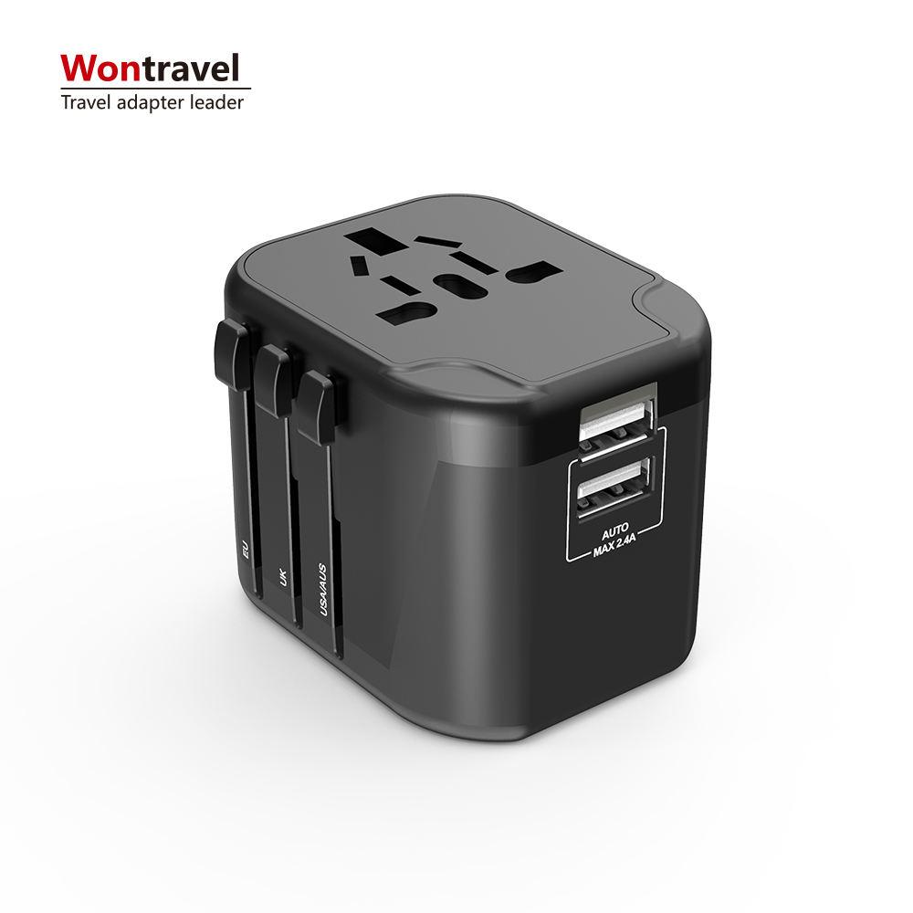 Novos itens de brinde promocional portátil carregador universal adaptador de viagem conversor de energia europeu