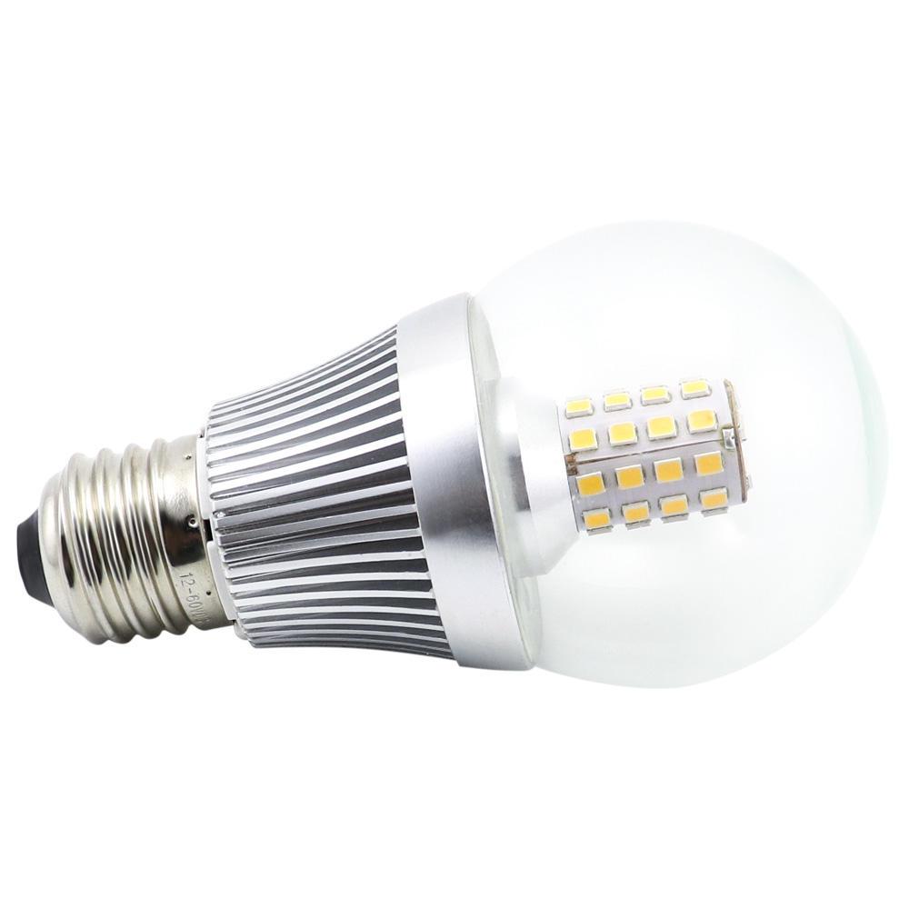 завод солнечной лампы E27 B22 Вт светодиодные лампы SMD2835 12-24 в 48 в 60 в 90-260 В мощность 7 Вт светодиодные лампы 24vdc