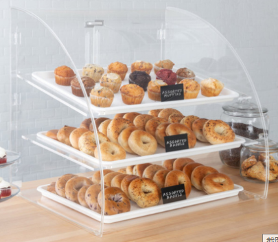 Donut display case 3 trays for deli bakery convenience stores display Self Serve Pastry