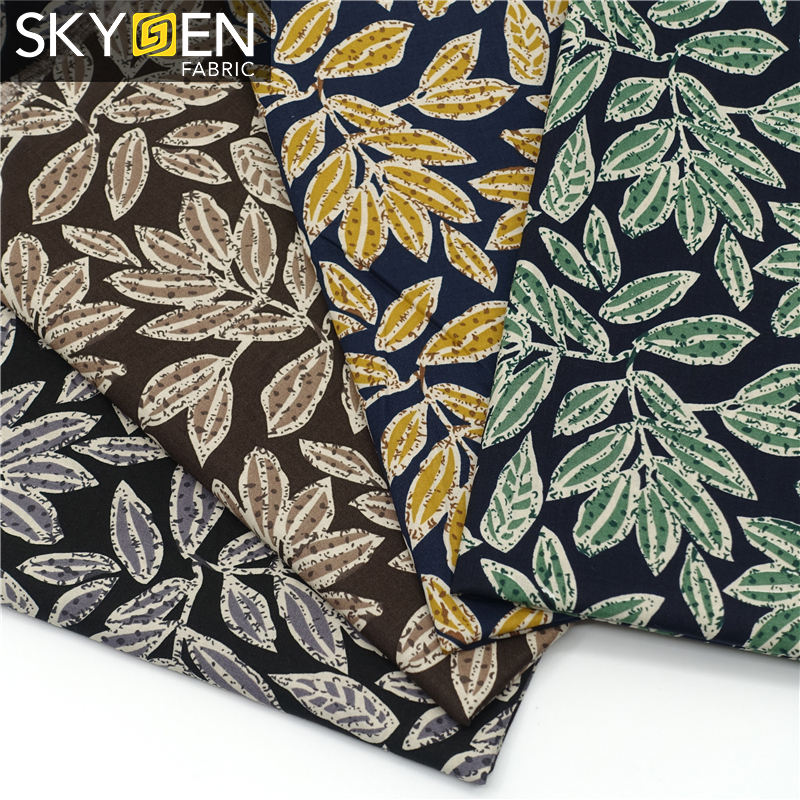 الجملة Skygen حريري 100% القطن قماش للملابس قماش للقمصان مخصصة النسيج الطباعة