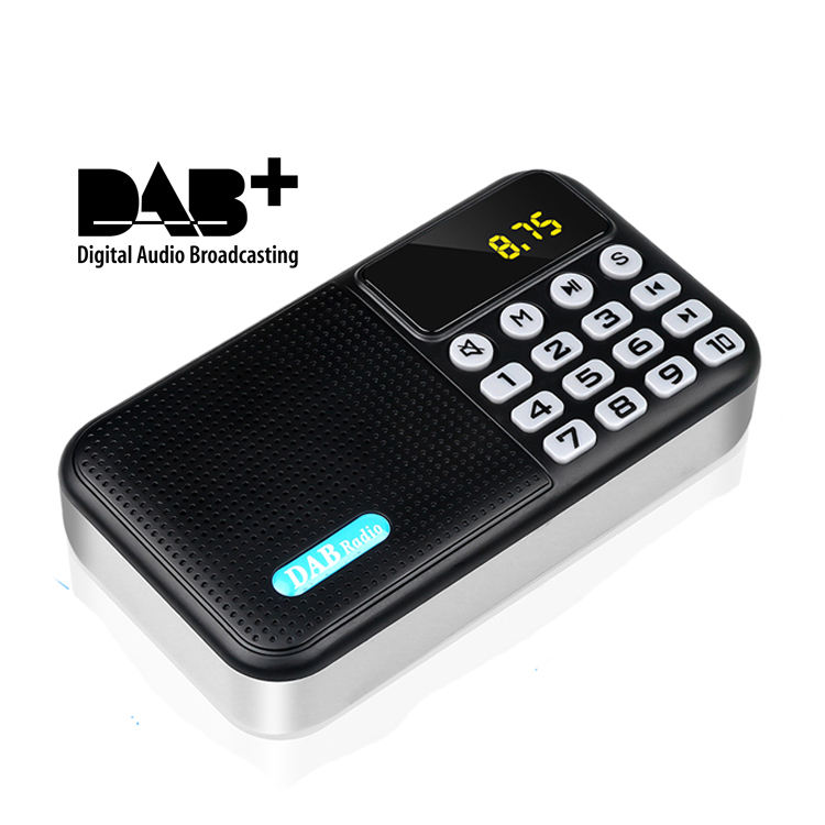 Radio portátil DAB-P8 Mini DAB/radio DAB + Digital FM Radio receptor 3 W Bluetooth altavoz TF tarjeta disco MP3 reproductor de música