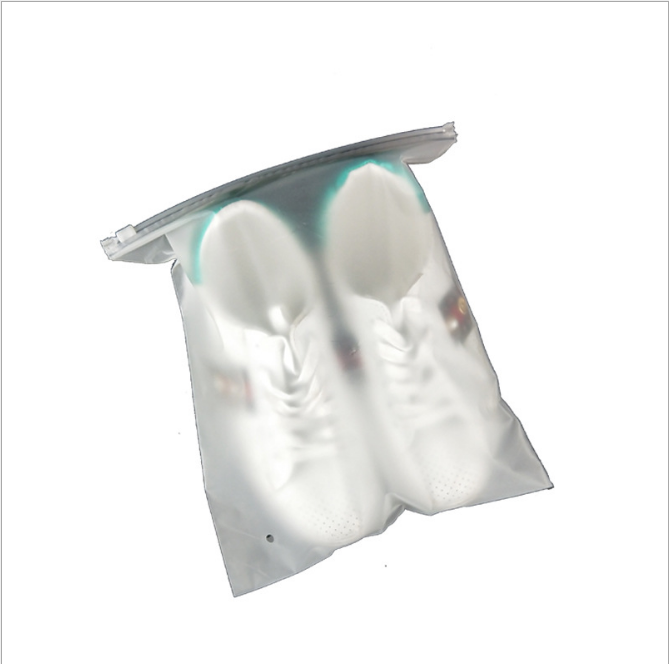 Transparent Small Matte Clear Plastic Custom Printed Slider Pe Zip Lock Clothing Bags With Logo