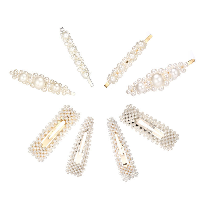 2019 Fashion Korean Pearl Hair Clips Accessories For Girls Hot Selling Pearl Hairpin Women Wedding Party Jewelry