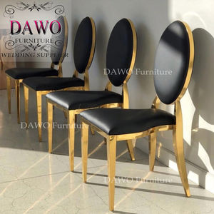 Best sale gold stainless steel stackable wedding chairs