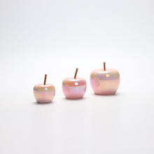 ceramic electroplating pink apple decor in home table ornament