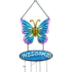 Wind Spinner Outdoor Hanging Ornament Lawn Yard Galvanized Metal Decor