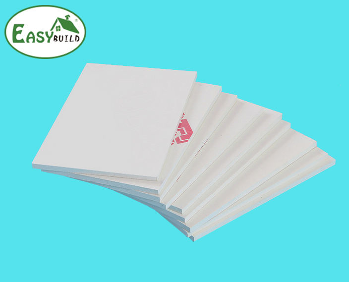 1MM 2MM 3MM thin light weight waterproof pvc free foam board/sheet