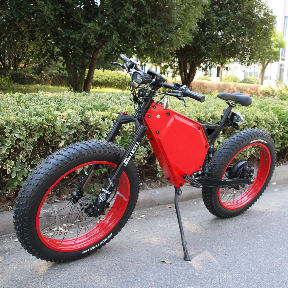 Full suspension electric fat bike 72v 5000w with high quality electric bike parts