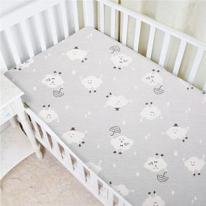 Amazon Custom Printed Jersey Knitted Cotton Crib Bassinet Fitted Sheet