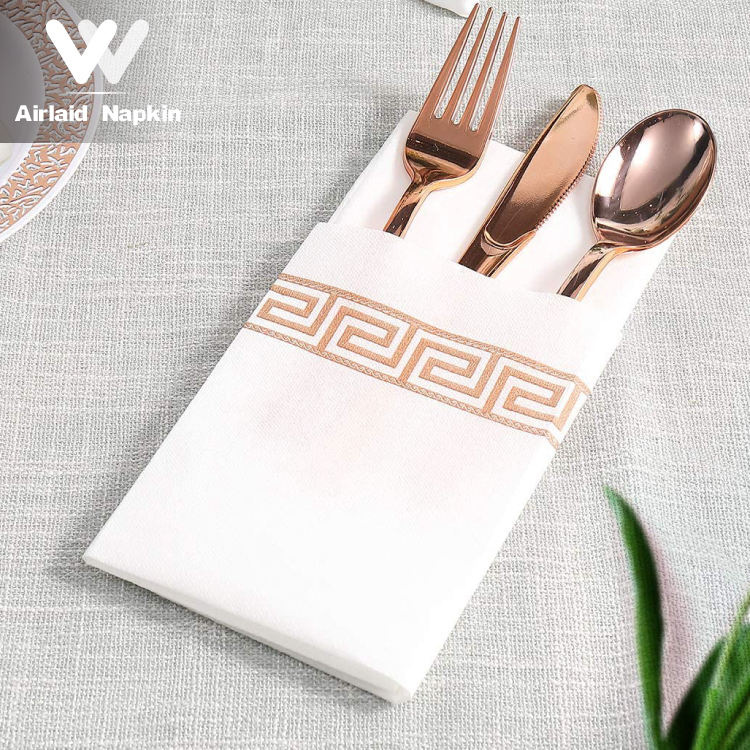 Winnende Wegwerp Airlaid Diner Servet Papier Servetten Tissue Handdoek Zachte Absorberende Decoratieve Restaurant Wedding Party