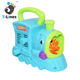 Kids plastic hand-cranked blowing bubble toy train