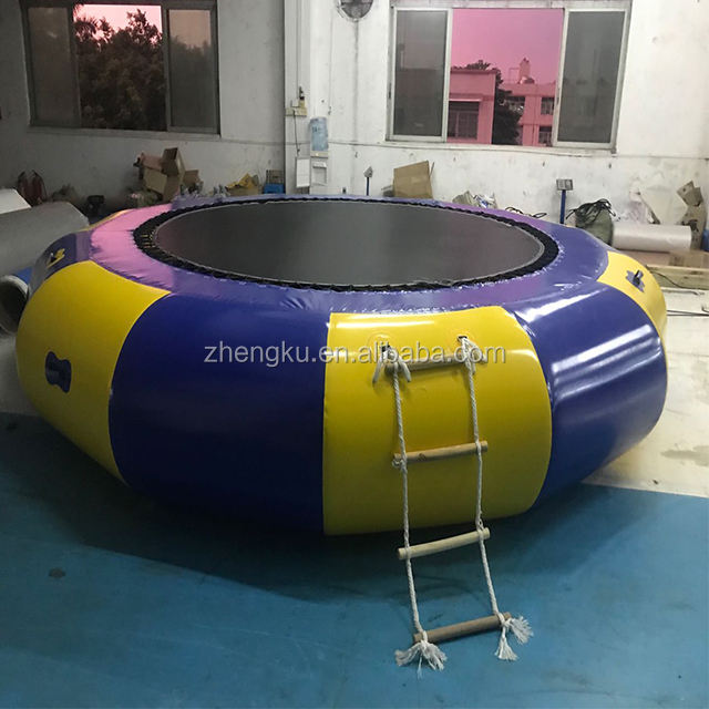 Dia 4.5m water sea inflatable floating trampoline/water leisure float inflatable games/water trampoline clearance for sales
