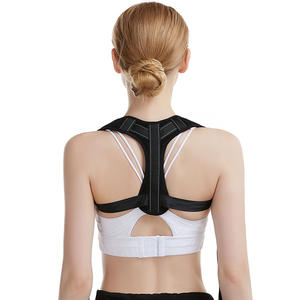 Wholesale Back Brace Posture corrector Custom Logo Black Body Shaper Back Support