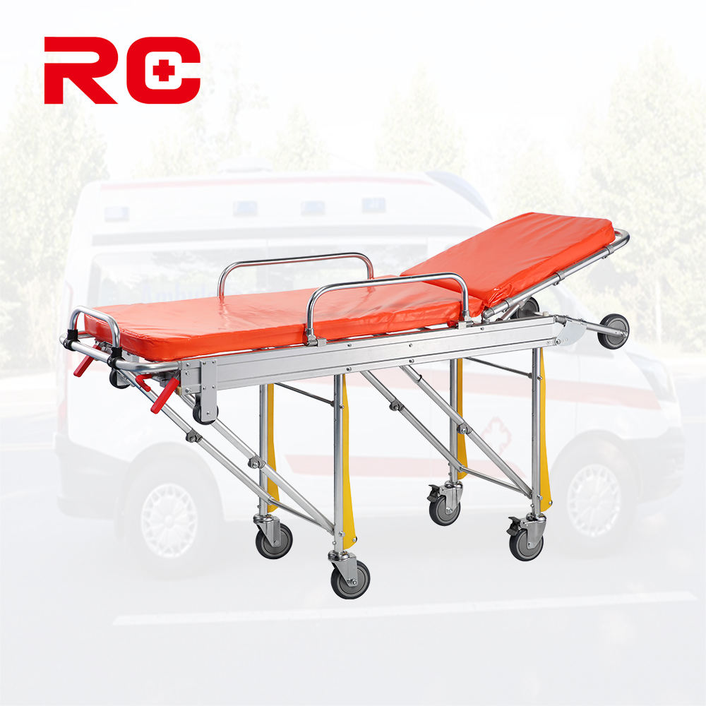 Royaltrust portable hospital emergency trolley bed medical ambulance folding stretcher for rescue transfer patient