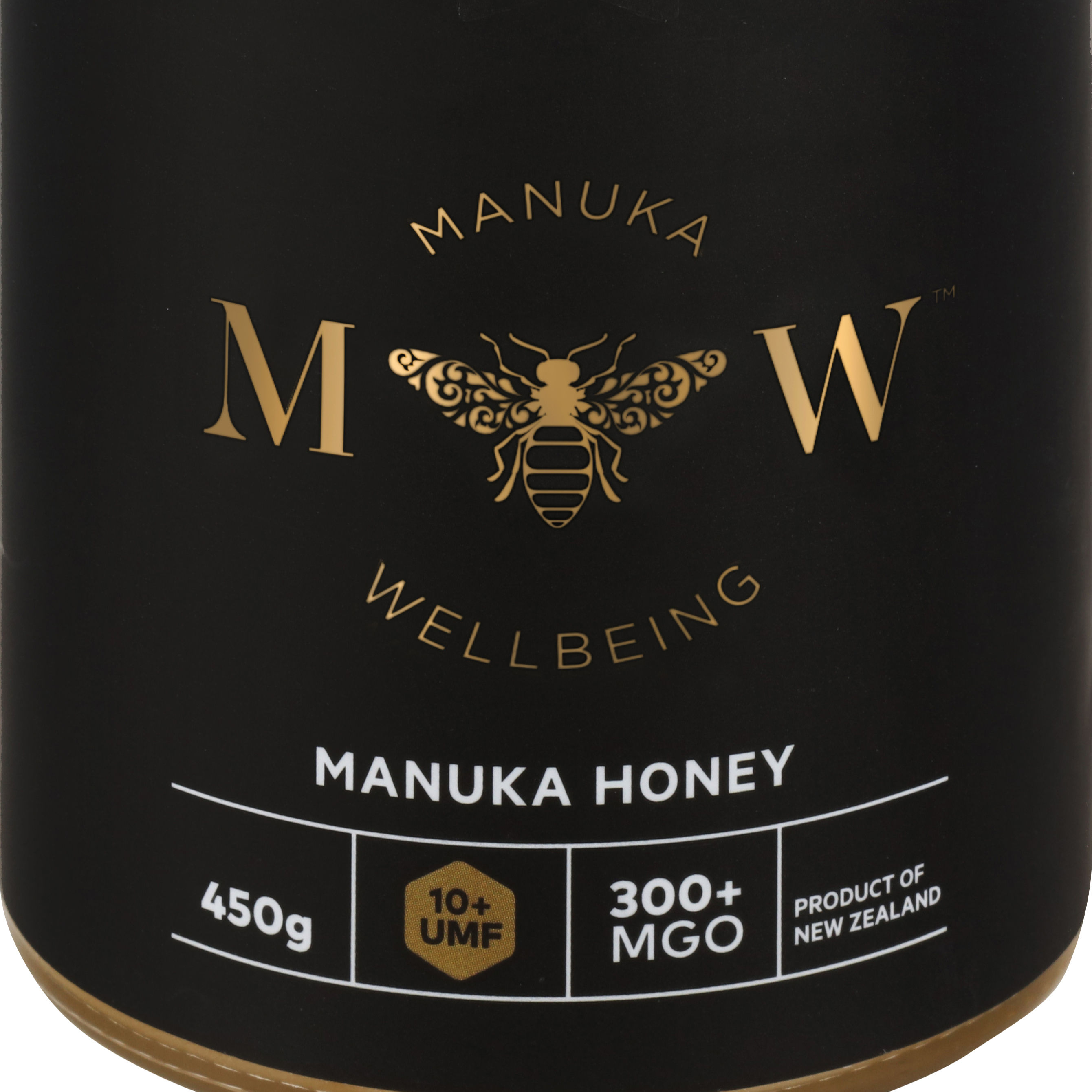 Manukawellbeing - 450 Grams Manuka Honey UMF 10+ MGO 300 - 100% Pure New Zealand & Halal