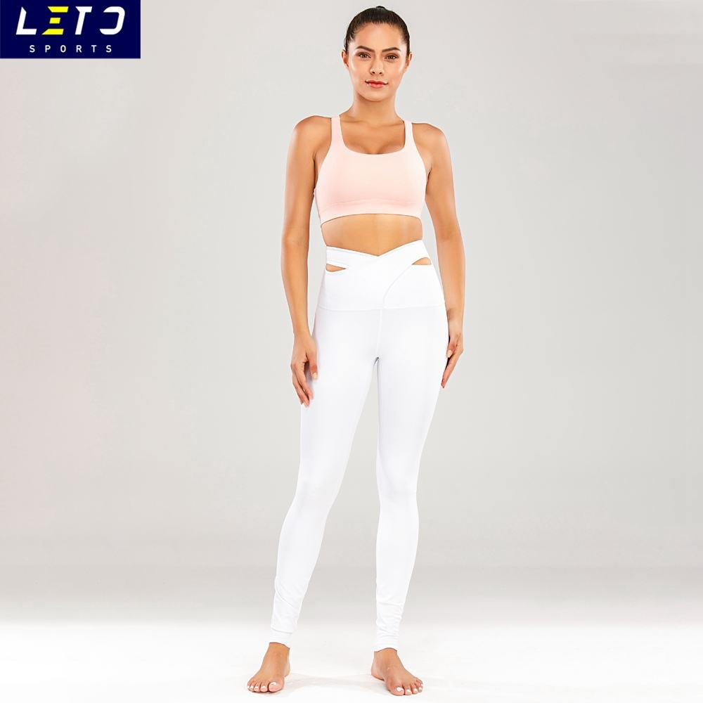 Leto OEM Custom Logo Yoga Suit Fitness Wear Women Yoga Set Gym Sportswear Athletic Apparel Manufacturers