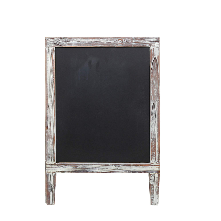 Antique Foldable Standing Double Side Wooden Home Decoration Chalkboard Frame