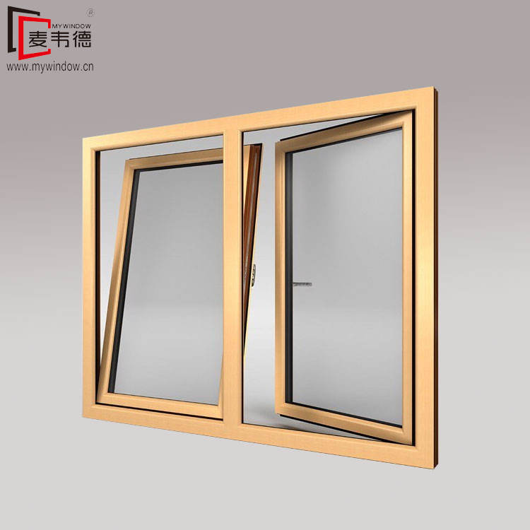 Hotel luxury commercial glass windows and doors tilt-turn aluminum tilt and turn window designs