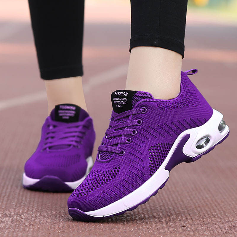 2019 OEM ladies Spring Summer Women Casual Shoes Fashion Breathable Hollow Lace-Up Women Sports Sneakers