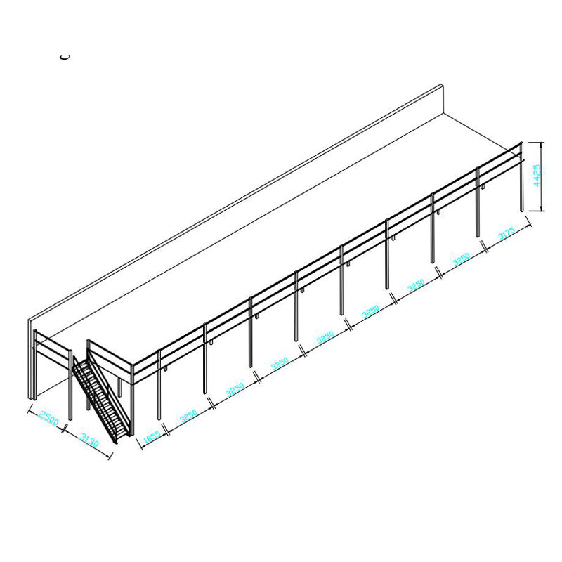 Assemble freely multi-layer custom steel industrial storage mezzanine rack