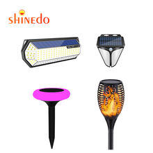 Solar LED Flame Torch Flickering Dancing Garden Stake Lights