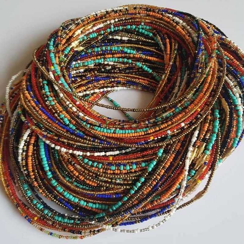 ghana plus size diamond tie on wholesale crystal african waist beads