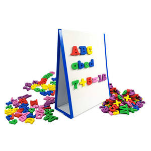67 pcs Kids EVA Foam Magnetic Letters Numbers and Math symbol refrigerator sticker with 1pc Magnetic Folding Whiteboard