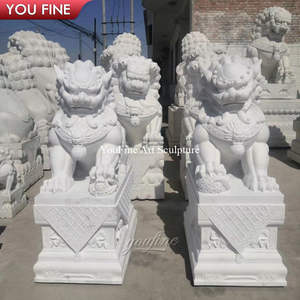 Garden Decoration Marble Lion Sculpture