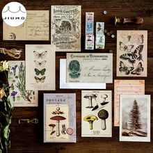 30pcs/box Ancient Forest Animals Plants Specimen Postcard Vintage Retro Style Creative Writing Greeting Gift Postcards