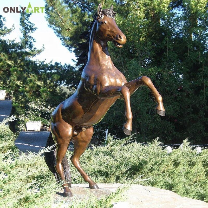 Life size outdoor casting bronze horse sculpture