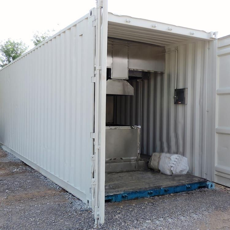 2020 Container Crematorium Movable Incinerator System for Sale No Smoke Environment Friendly ISO certificated