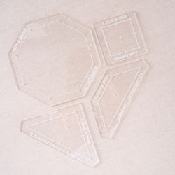 Translucent Clear Acrylic Quilting Stencil English Paper Piecing Templates