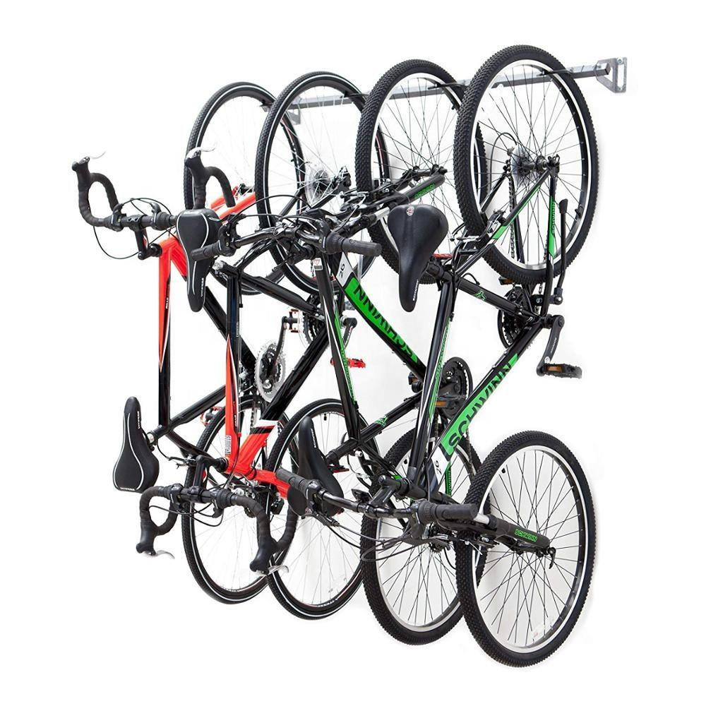 4 bike Storage Hanger Metal Coated Cycling Display Wall Mounted Bike Rack