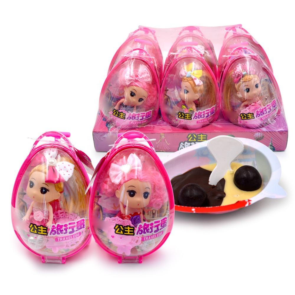 19g chocolate premium big travel egg princess doll toy candy
