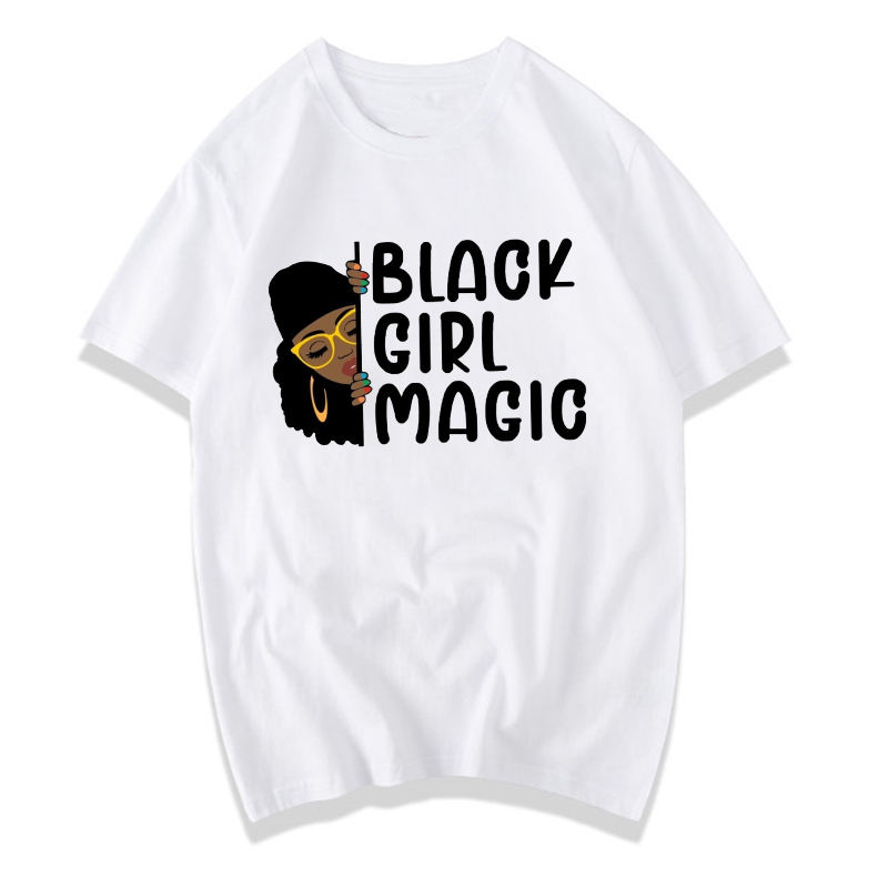 Black Girl Magic Afro lady woman T Shirt Black History Equality Shirt