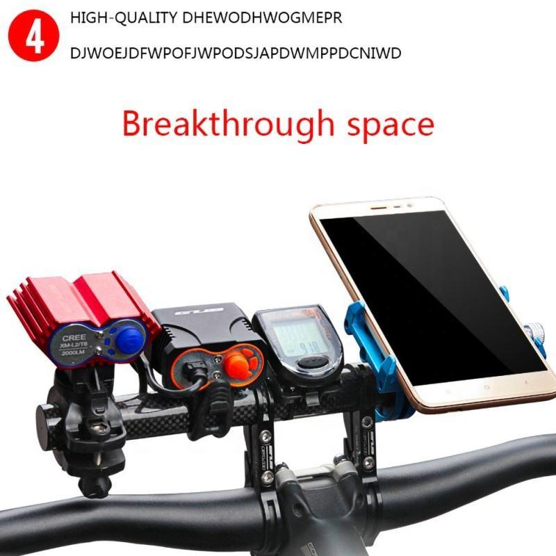 Bike Flashlight Holder Handlebar Bicycle Accessories Extender Mount Bracket  RTS