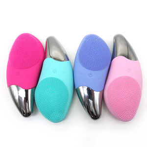 2020 Best Sale Rechargeable battery Face Brush Electric Silicone Waterproof Face Brush Cleansing Facial Brush