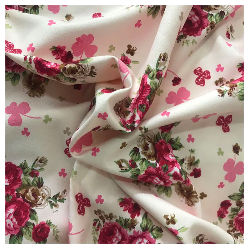 Cheap price woven+fabric floral printed fabric T-shirt fabric manufacturers
