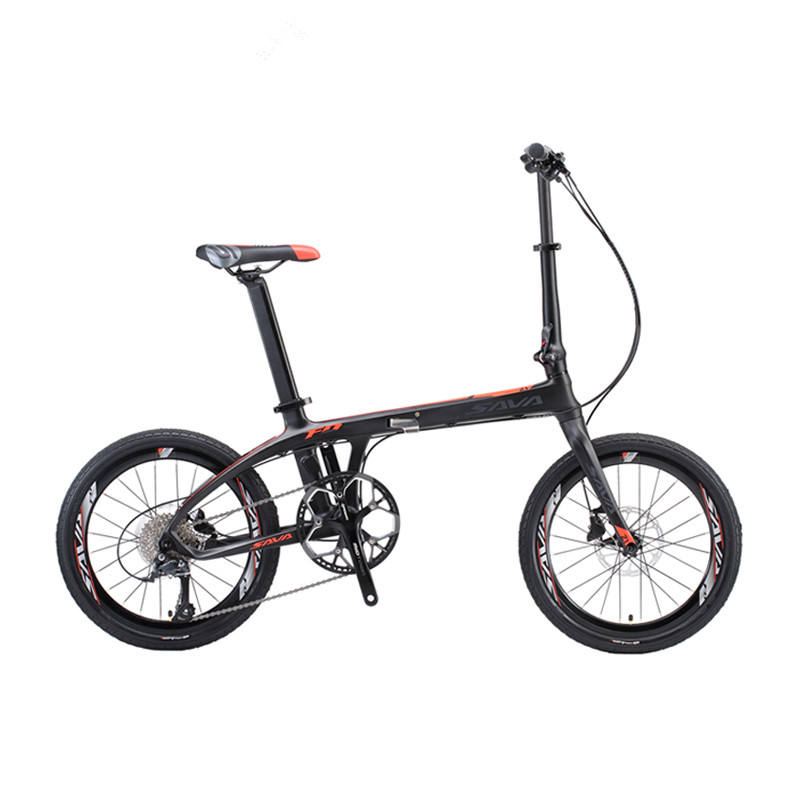 SAVA Z1 20 inch Folding bicycle Carbon fiber frame Mini city Carbon Light weight Foldable bike 9 Gears/Speeds Folding bicycle
