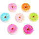 Japan mochi small slow rising pu foam donut squeeze squishy toy with keychain