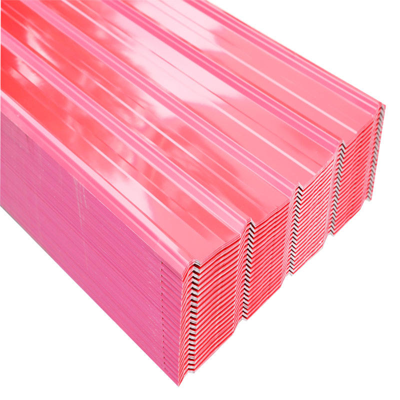 PPGI Corrugations Ppgi Steel Roofing Sheets Galvanized Color Metal Plate