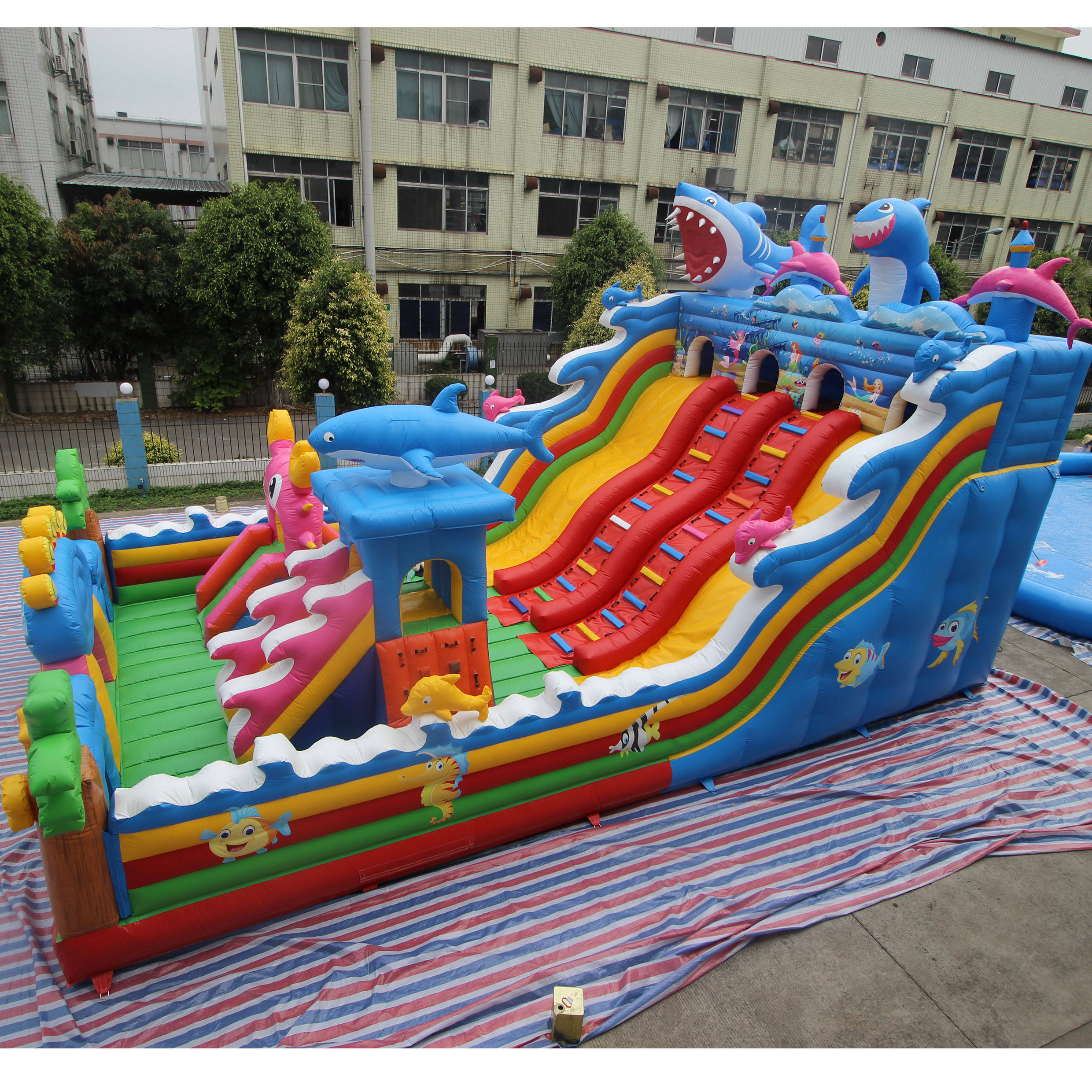 Outdoor Toys Adventure Jumping Inflatable Classic Combo Animal Bouncer Castle With Slide