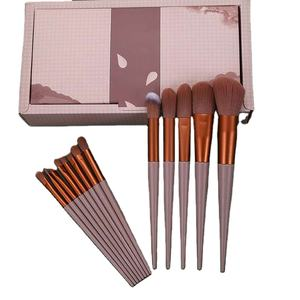plastic Premium Taklon Synthetic Personalized Wholesale Your Own Brand Custom Logo Private Label Professional Makeup Brush Set