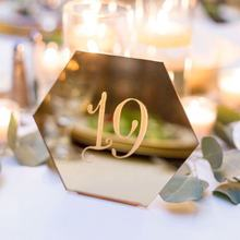 1-100 Digital Wedding table number  Mirror and clear Acrylic wedding table number acrylic wedding number