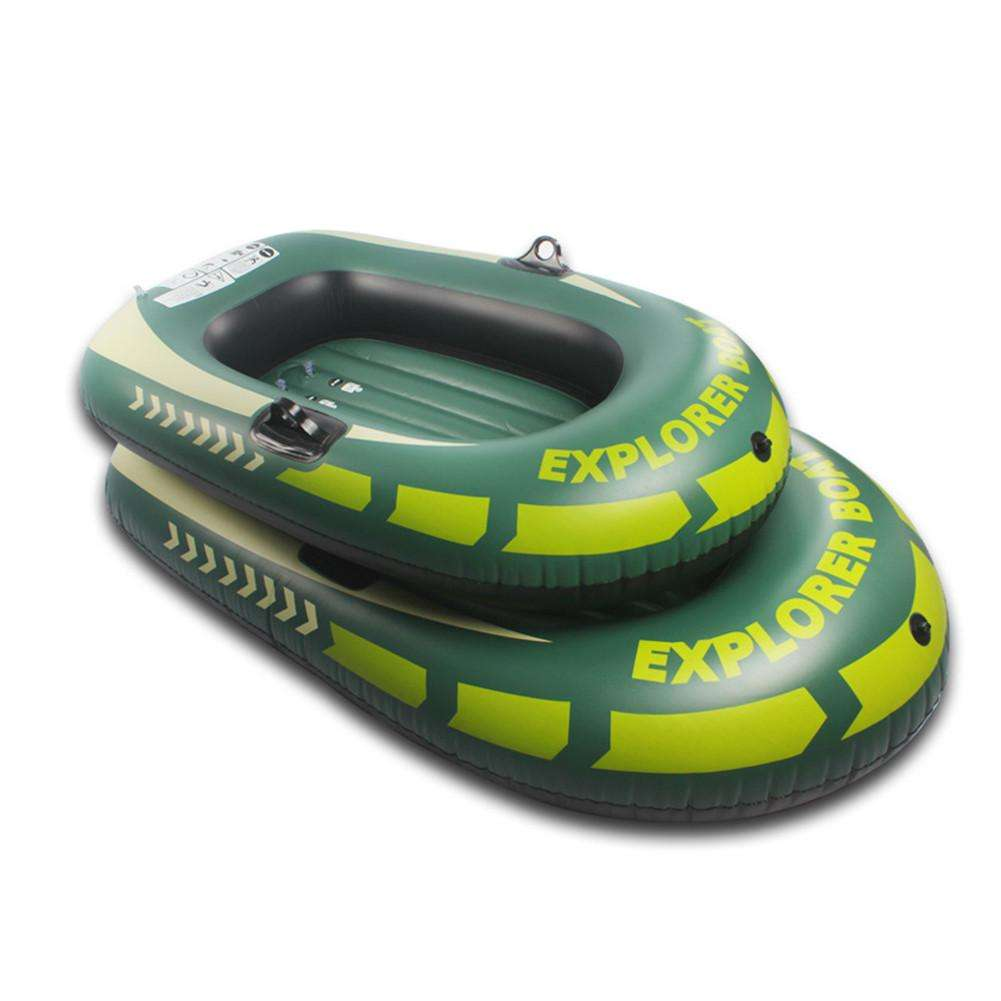 New 150/188 cm Inflatable Kayak Canoe Rowing Air Boat Double Valve Drifting Diving Inflatable Boat Fishing Boat 1/2Person